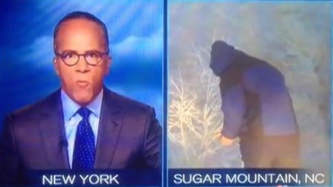 Is This Weatherman Peeing On Live TV? [VIDEO]