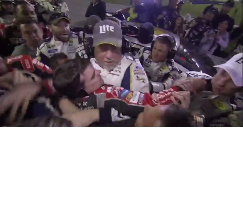 Jeff Gordon and Brad Keselowski Duke It OUT!!