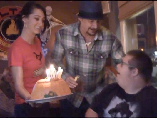 Kid Rock Surprises Fan During Birthday!