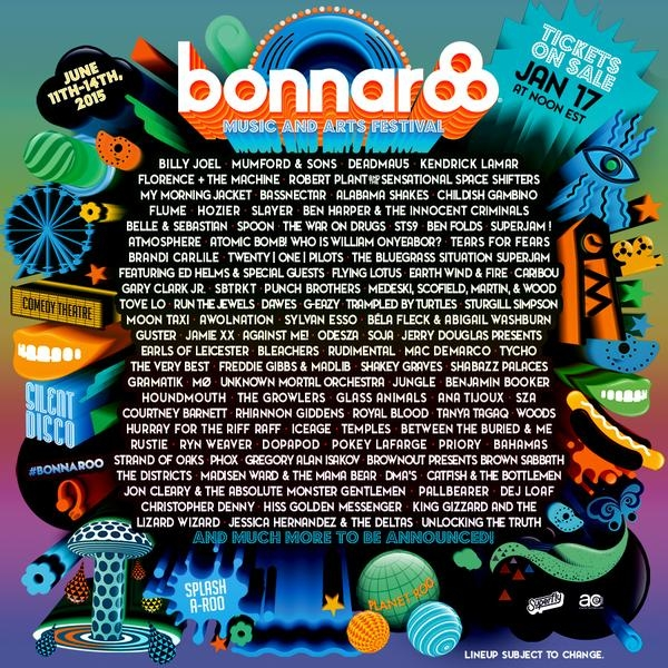 Bonnaroo 2015 Lineup Announced!