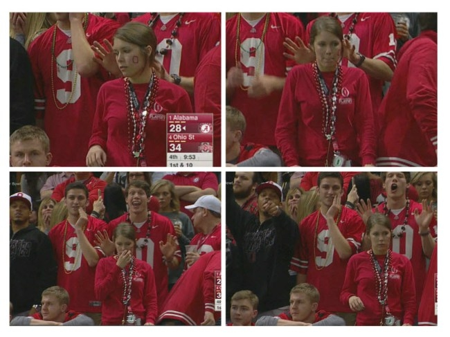 Did This Ohio State fan get caught cheating on National TV?