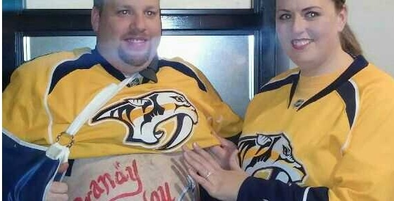 Marriage Proposal, Preds Style!