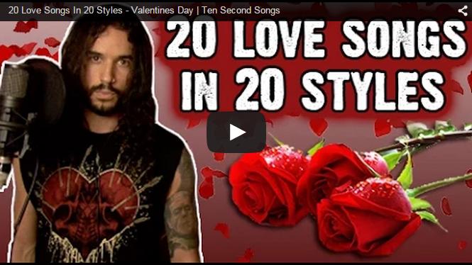 20 Love Songs in 20 Styles [VIDEO]