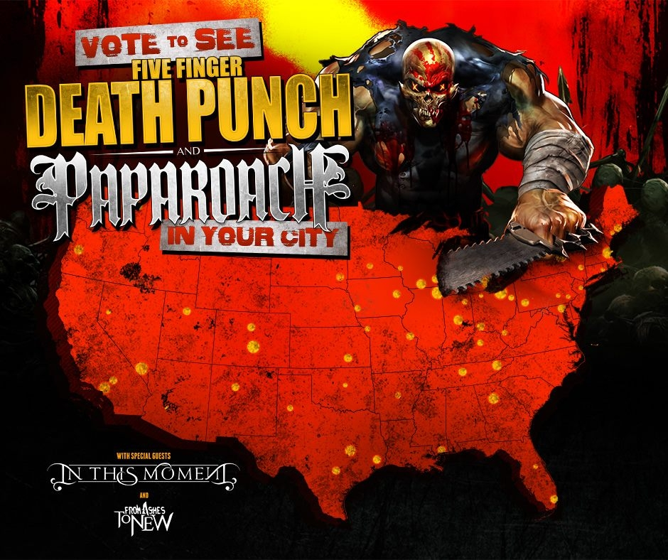 Papa Roach and Five Finger Death Punch Could Play Nashville, But only If you Vote!